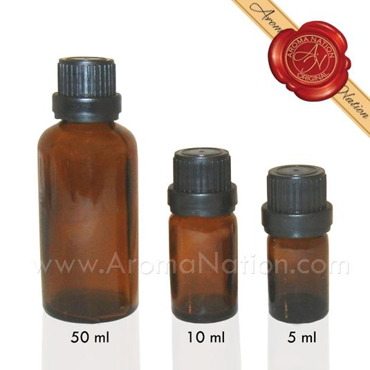 Glass Amber Bottles Aroma Nation
